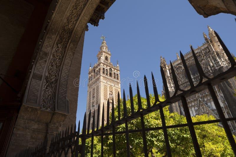 Torre di Giralda della La in Siviglia immagini stock