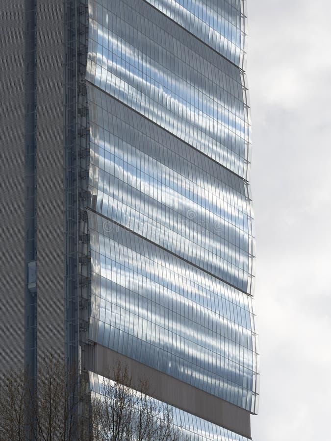 Torre di Isozaki a Citylife, a Milano immagine stock