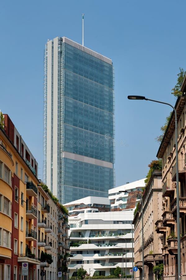Torre di Isozaki, Milano fotografie stock libere da diritti