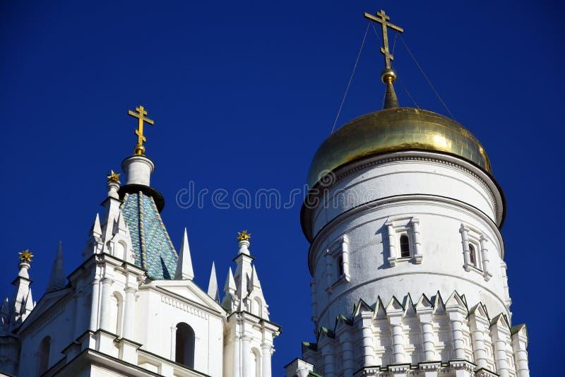 Torre di Ivan Great Bell del Cremlino di Mosca Luogo del patrimonio mondiale dell'Unesco fotografie stock libere da diritti