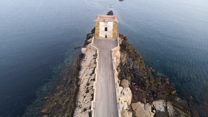 Torre di Ligny em Trapani Sicília imagens de stock