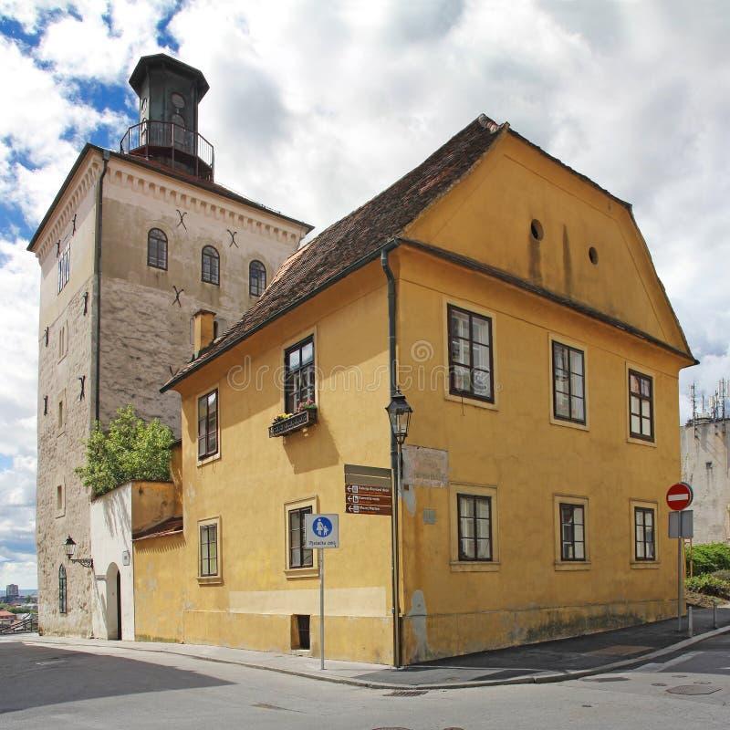 Torre di Lotrscak a Zagabria fotografie stock libere da diritti
