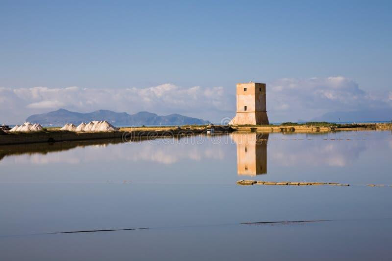 torre di nubia Сицилии стоковые фото