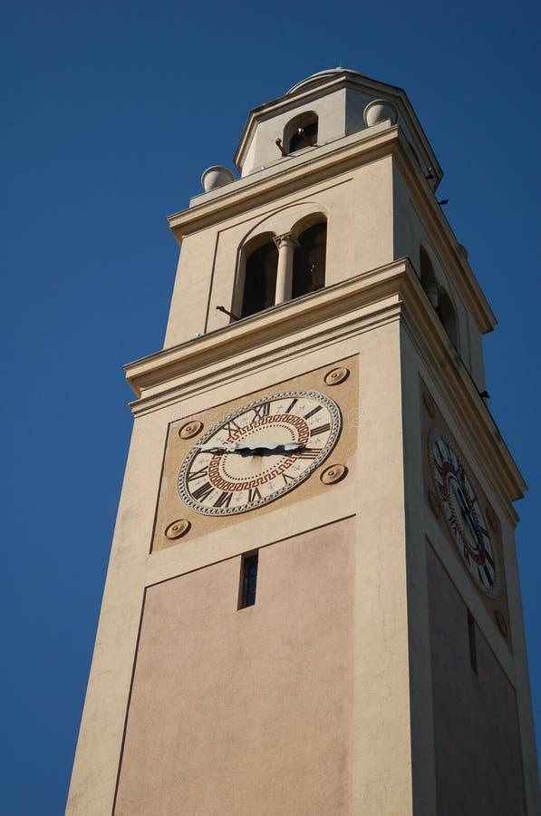 Torre di orologio all'università di Stato della Luisiana immagine stock libera da diritti
