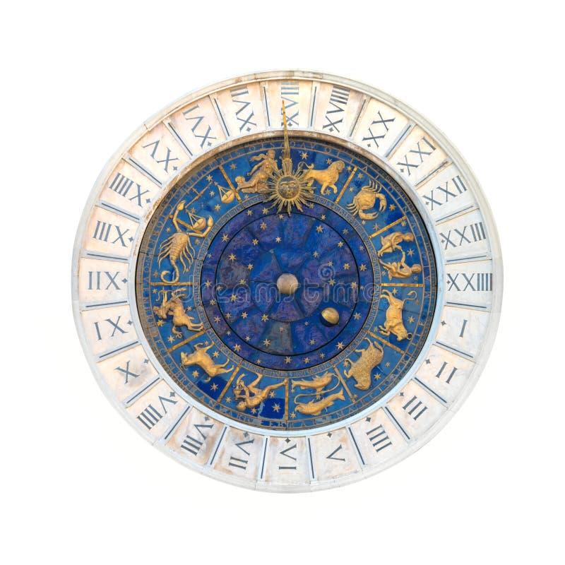 Torre di orologio astronomica dello zodiaco fotografie stock