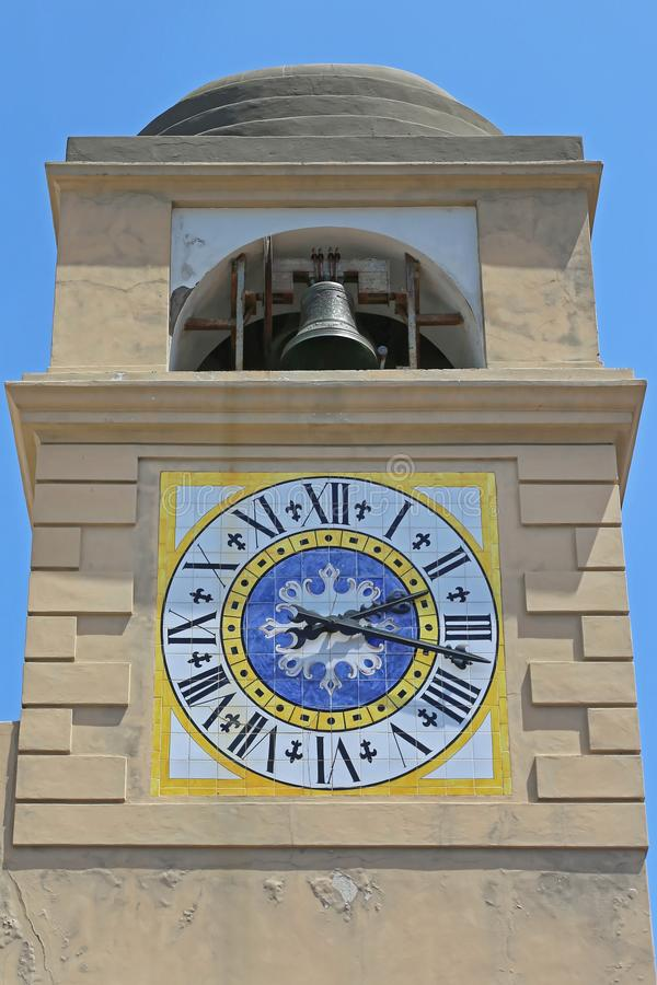 Torre di orologio di Capri immagini stock