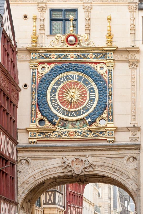 Torre di orologio del Gros Horloge fotografie stock libere da diritti