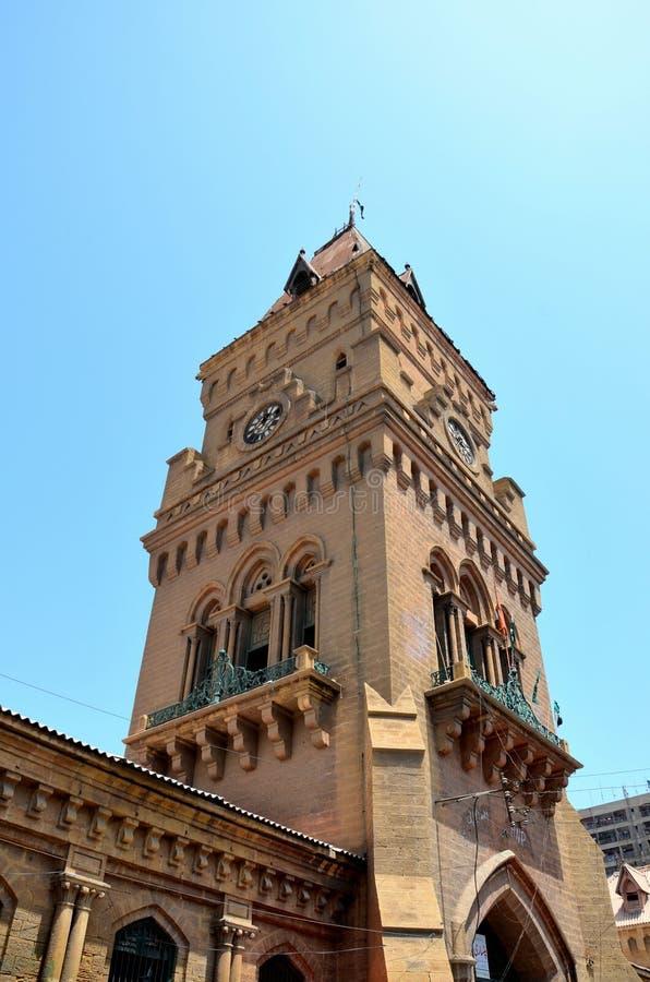 Torre di orologio del mercato dell'imperatrice in Saddar Karachi Pakistan fotografia stock libera da diritti