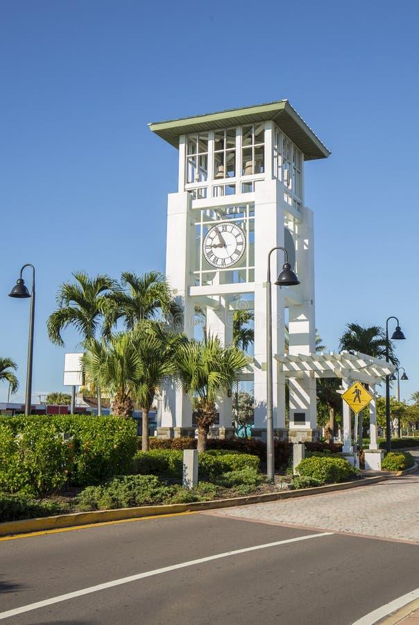 Torre di orologio dell'isola del tesoro fotografie stock