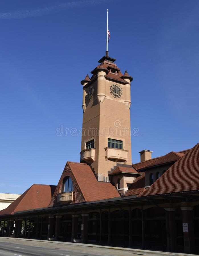 Torre di orologio della stazione del sindacato fotografia stock