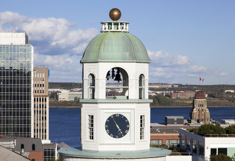 Torre di orologio di Halifax fotografie stock libere da diritti