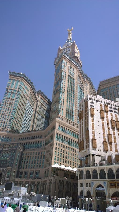 Torre di orologio di Makkah fotografia stock