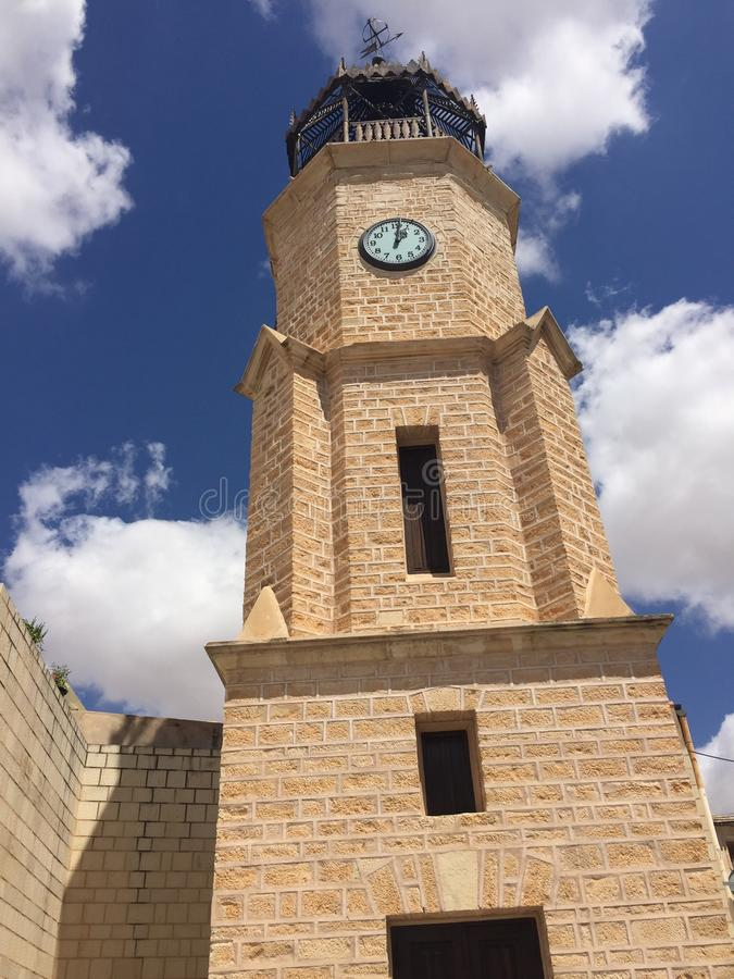 Torre di orologio di Pinoso immagine stock libera da diritti