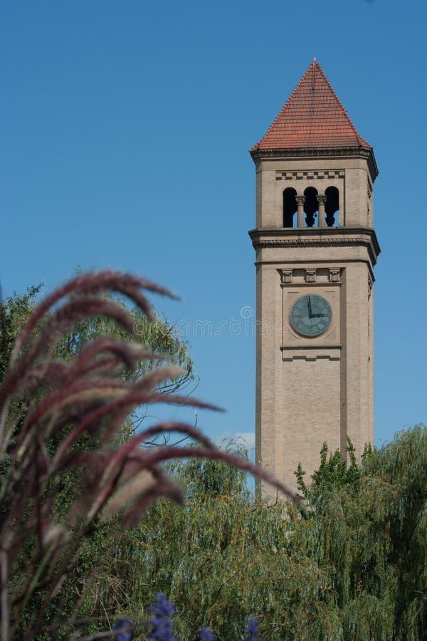 Torre di orologio di Spokane fotografia stock libera da diritti