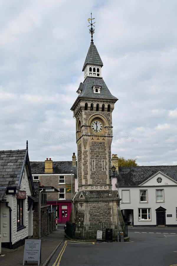 Torre di orologio, Fieno-su-ipsilon, Hereforshire, Inghilterra immagine stock libera da diritti