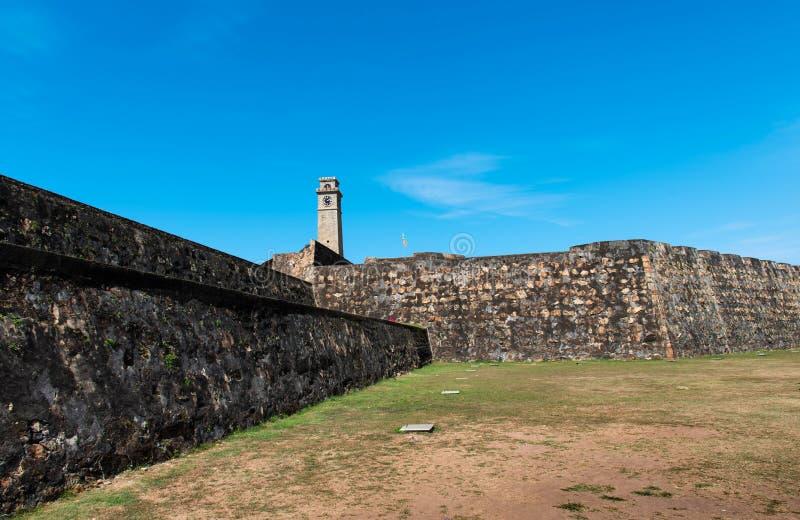 Torre di orologio forte di Galle nello Sri Lanka fotografie stock