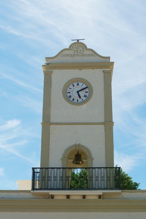 Torre di orologio municipale fotografia stock