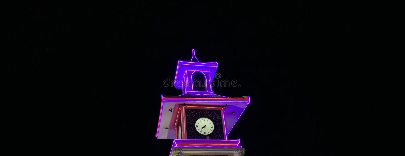Torre di orologio di notte fotografia stock libera da diritti