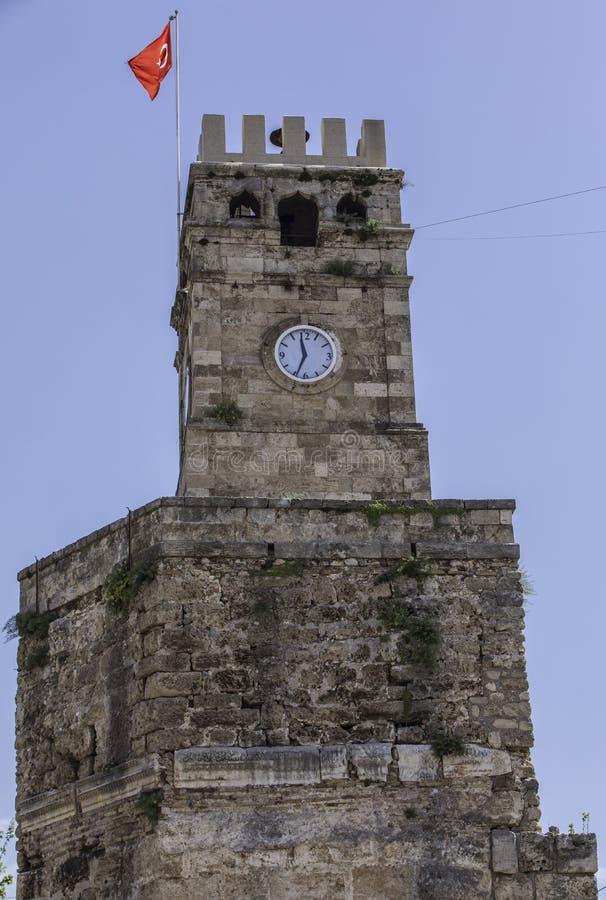 Torre di orologio di pietra fotografie stock libere da diritti