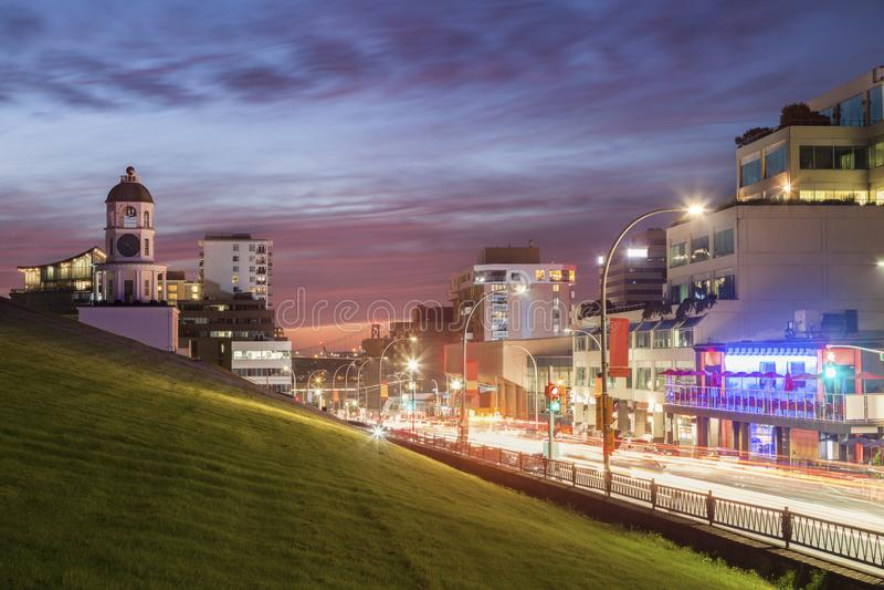 Torre di orologio storica a Halifax fotografia stock libera da diritti