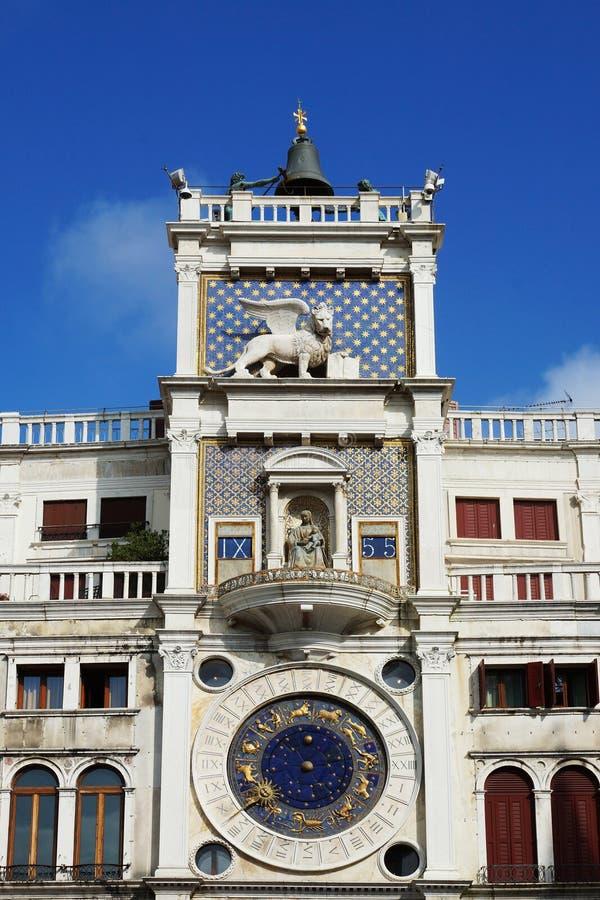 Torre di orologio sulla piazza San Marco a Venezia, Italia fotografia stock libera da diritti