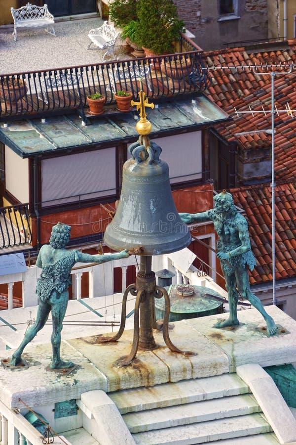 Torre di orologio sulla piazza San Marco a Venezia, Italia immagini stock libere da diritti