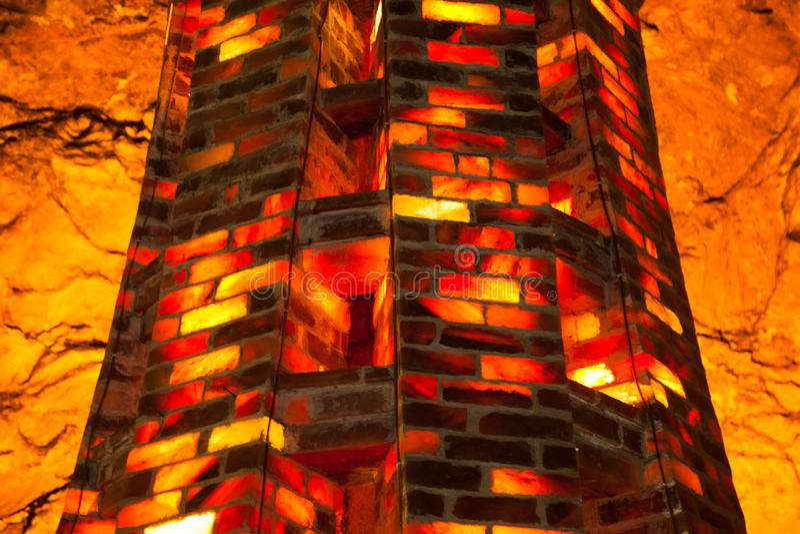 Torre di piastrelle salate di Khewra ( Pakistan ) immagine stock libera da diritti