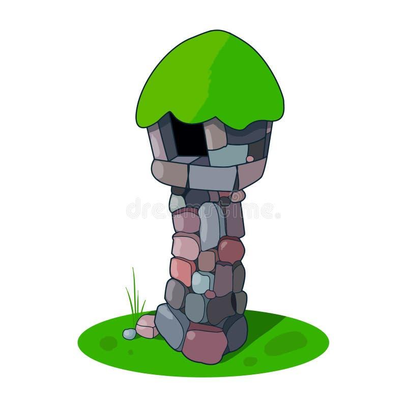 Torre di pietra antica fotografie stock libere da diritti