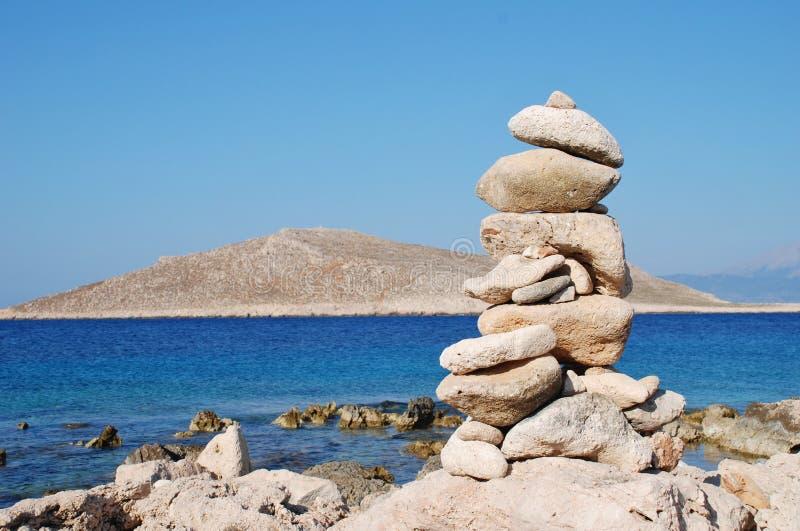 Torre di pietra, Halki immagine stock
