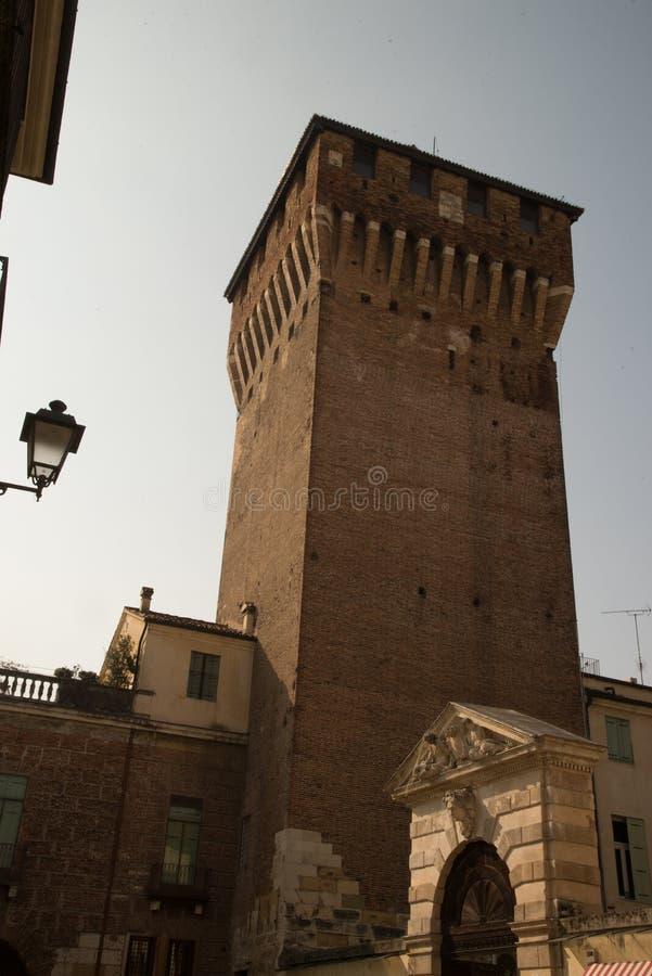 Torre di Porta Castello, Vicence, Italie images libres de droits