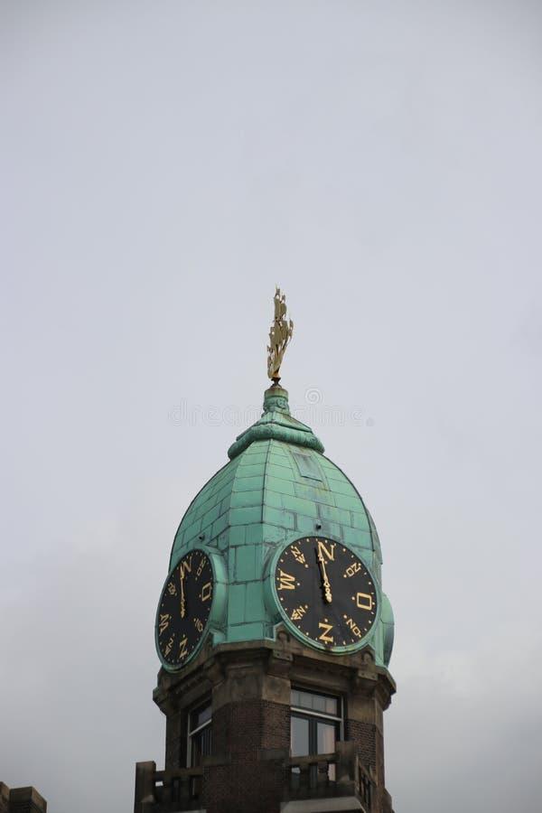 Torre di precedente terminale della nave del lijn dell'Olanda-Amerika, in cui il lotto della gente ha lasciato i Paesi Bassi immagine stock libera da diritti