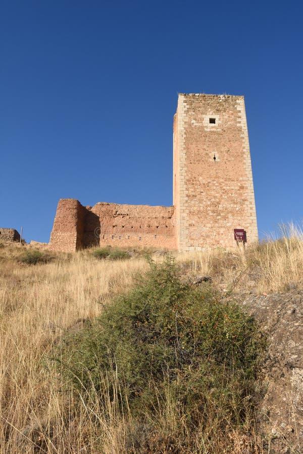Torre di San Cristobal, pareti, S XIV, Daroca fotografia stock libera da diritti