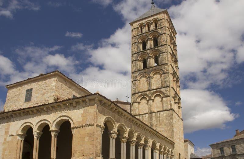 Torre di San Esteban Church a Segovia, Spagna immagini stock