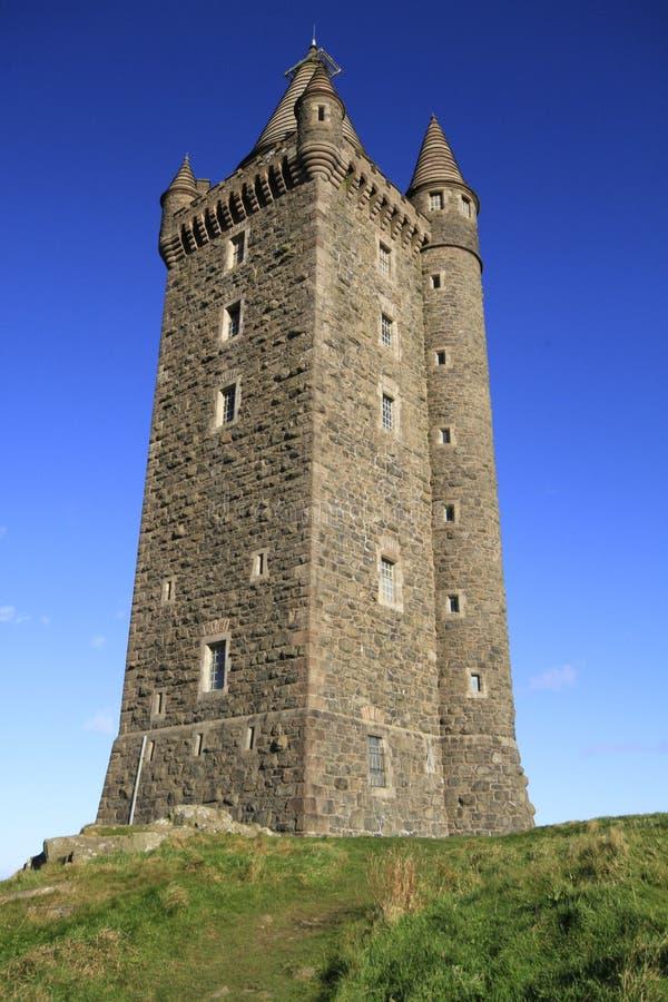 Torre di Scrabo fotografia stock libera da diritti