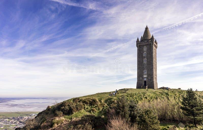 Torre di Scrabo, Newtownards fotografie stock libere da diritti