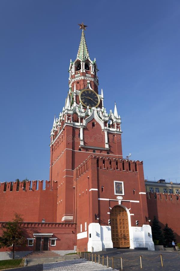 Torre di Spasskaya del Cremlino di Mosca. La Russia fotografia stock libera da diritti