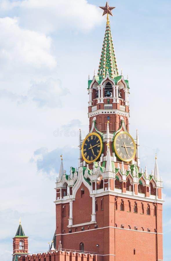 Torre di Spasskaya del Cremlino di Mosca fotografia stock libera da diritti