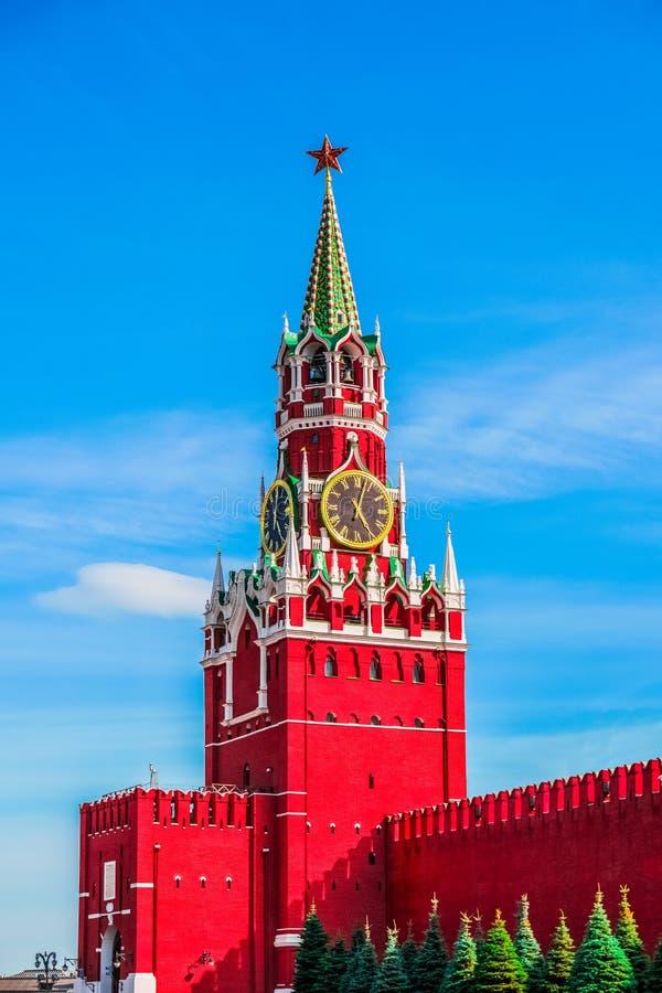 Torre di Spasskaya di Cremlino di Mosca fotografia stock libera da diritti