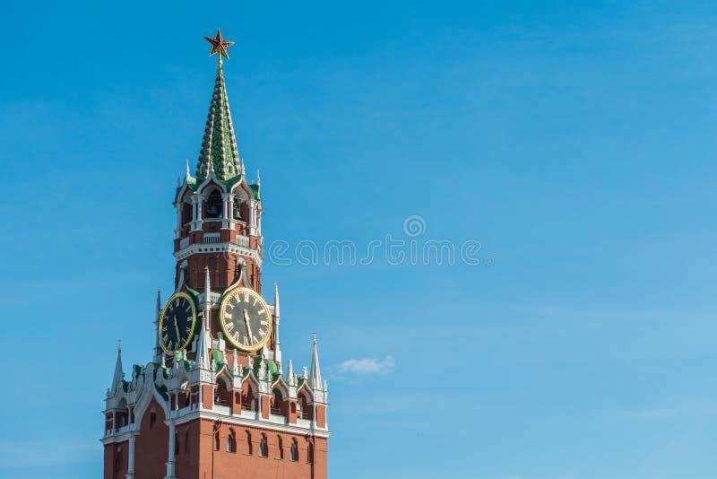 Torre di Spasskaya di Cremlino di Mosca immagini stock