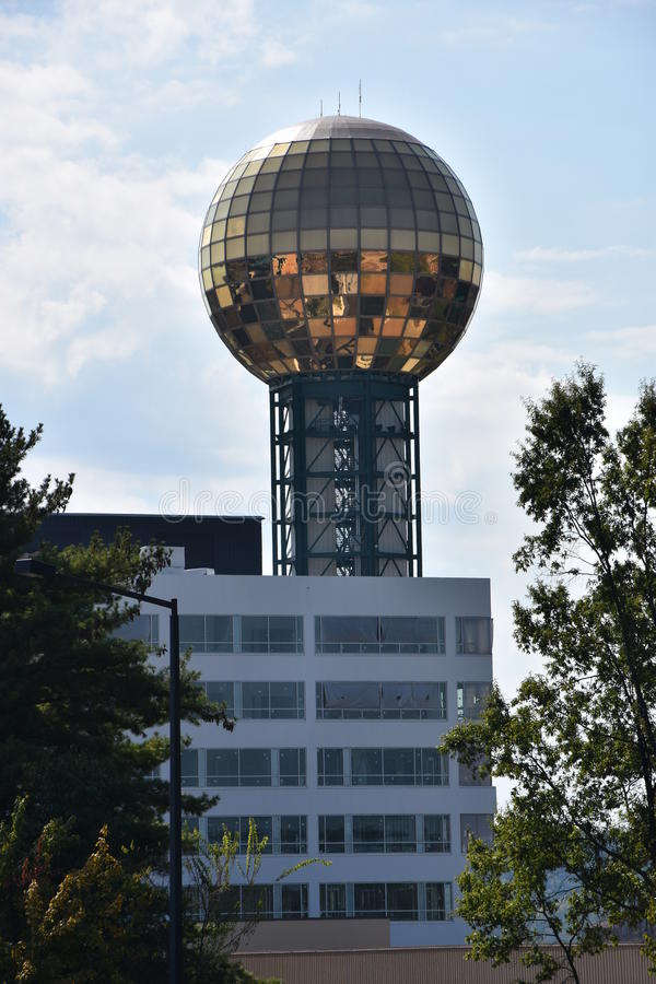 Torre di Sunsphere a Knoxville, Tennessee fotografia stock
