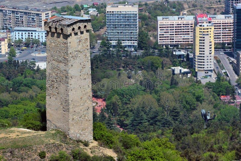 Torre di Svan a Tbilisi, Georgia fotografia stock