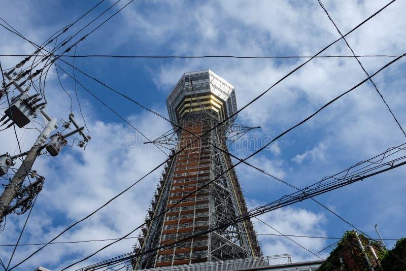 Torre di Tsutenkaku a Osaka immagine stock libera da diritti