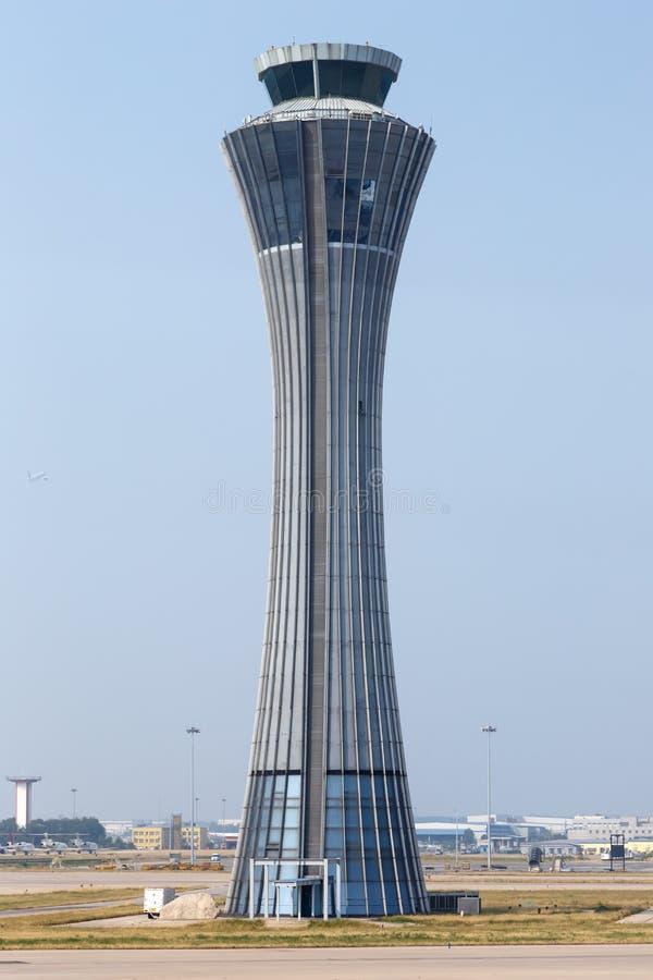 Torre do Aeroporto Internacional de Pequim Capital na China foto de stock