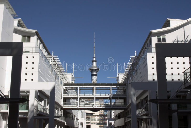 Torre do céu de Auckland imagem de stock royalty free