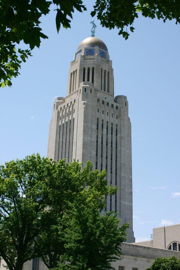 Torre do capital de Nebraska imagem de stock