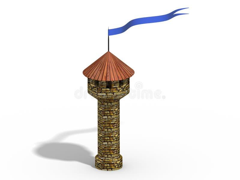Torre do castelo ilustração royalty free