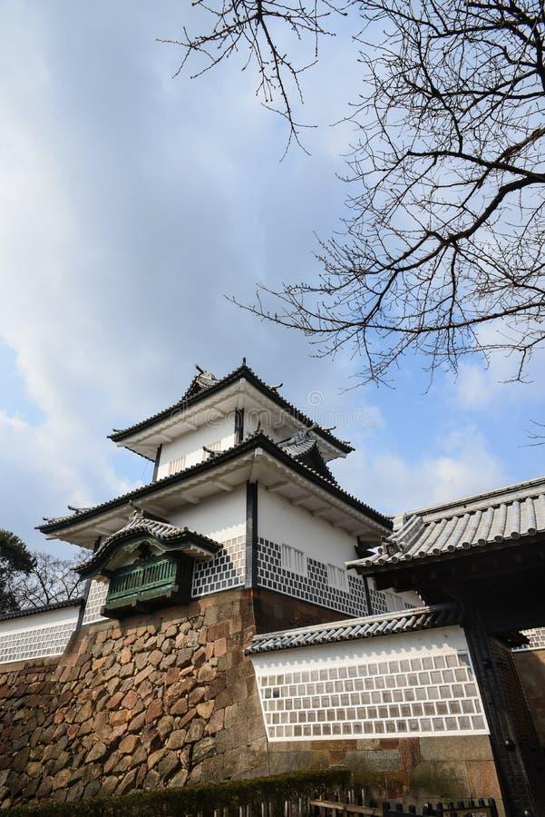 A torre do castelo de kanazawa é sightseeing de kanazawa fotografia de stock