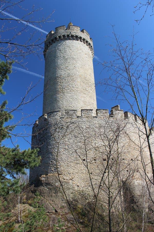 Torre do castelo de KokoÅ™Ãn foto de stock royalty free