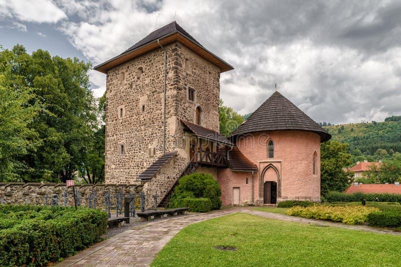 Torre do castelo de Kremnica, Eslováquia fotos de stock royalty free
