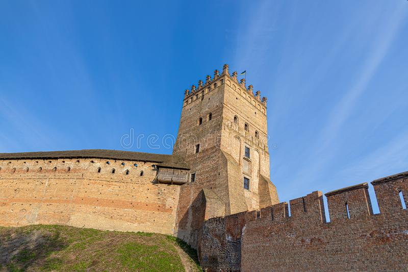 Torre do Castelo de Lutsk Antiga fortaleza Ucrânia foto de stock